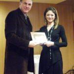 Ο Δήμαρχος Α. Παχατουρίδης τίμησε  τη νεαρή επιστήμονα Δρ. Γ. Σαλαντή