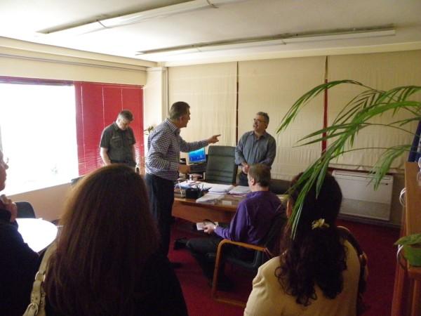 Από τη συνάντηση του Δημάρχου Α. Παχατουρίδη με τον Διευθυντή Εκπαίδευσης Ι. Κουμέντο