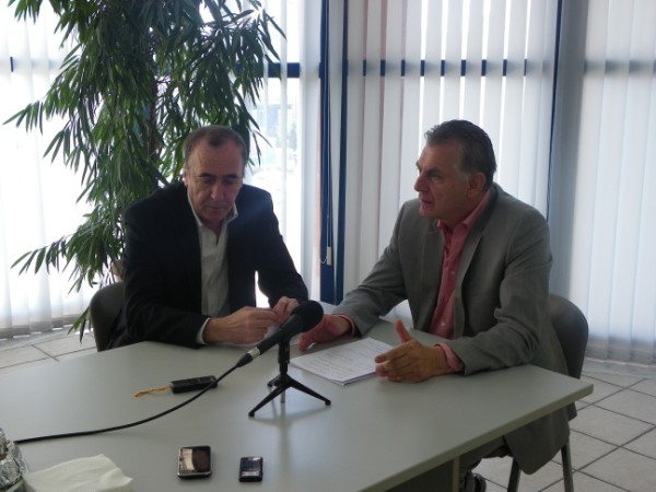 Από τη συνέντευξη Τύπου του Δήμαρχου Α. Παχατουρίδη, δίπλα του ο Αντιδήμαρχος Θ. Αρβανίτης