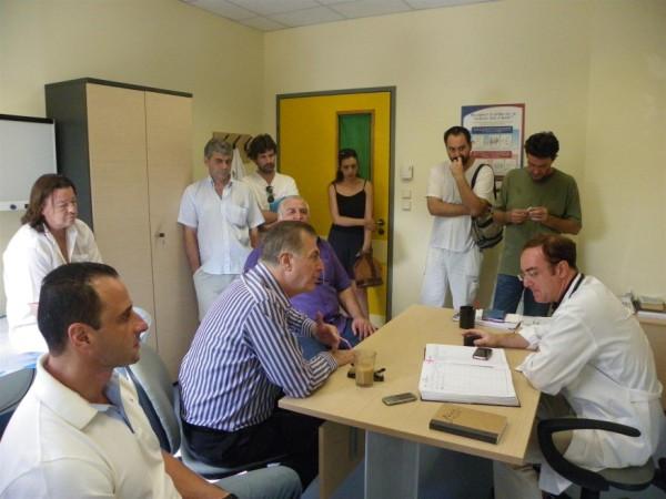 Από τη συνάντηση του Δημάρχου Α. Παχατουρίδη στο Κέντρο Υγείας