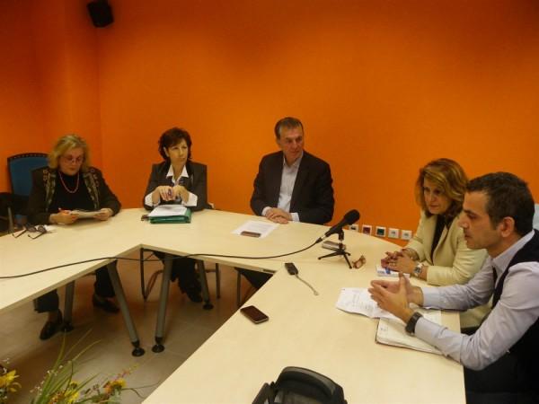 Από αριστερά, Μ. Αλεξανδράκη, Μ. Τσιώτα, Α. Παχατουρίδης, Χρ. Κυριακοπούλου, Γ. Γλωσσιώτης