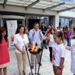 Υποδοχή φλόγας της Λαμπαδηδρομίας των Εθελοντών Αιμοδοτών