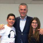 Συνέντευξη του Δημάρχου Α. Παχατουρίδη στους μαθητές του 14ου Γυμνασίου