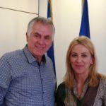 Ρένα Δούρου - Ανδρέας Παχατουρίδης συνάντηση - συνεργασία σε άριστο κλίμα
