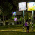 Φωταγώγηση πλατείας της Εθν. Αντιστάσεως (έναντι ΟΤΕ) με τα έργα των μικρών ζωγράφων από το Δ. Περιστερίου