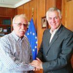 Συνάντηση του Δημάρχου Περιστερίου Α. Παχατουρίδη με τον Αναπλ. Υπουργό Εθν. Άμυνας Δ.Βίτσα