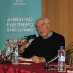 Διάλεξη του Χρ. Γιανναρά στο Δημοτικό  Ελεύθερο Πανεπιστήμιο Περιστερίου