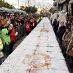 ΤΟ ΠΕΡΙΣΤΕΡΙ ΕΣΠΑΣΕ ΟΛΑ ΤΑ ΡΕΚΟΡ!  Βασιλόπιτα «γίγας» 5 τόνων, 300 τμ & 35 χιλιάδες κομμάτια